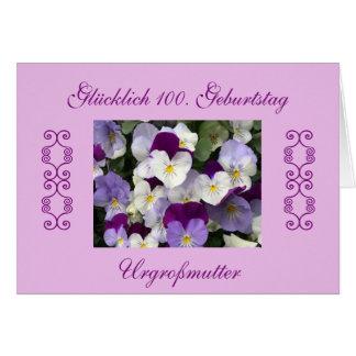 Alemão: aniversário das excelente-avó o 100th cartão comemorativo