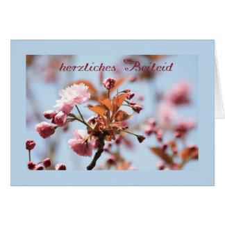 alemão cor-de-rosa do cartão de simpatia da flor