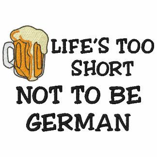 Alemão engraçado bordado polo