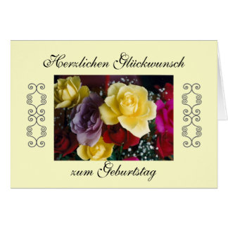 Alemão: Feliz aniversario! Cartão