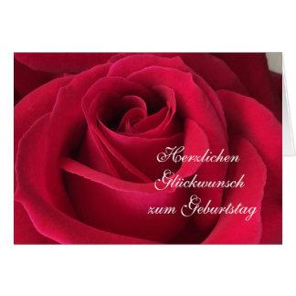 Alemão: Feliz aniversario! Cartão Comemorativo