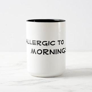 alérgico ao design engraçado da caneca de café das