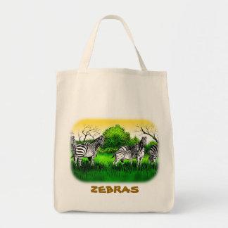 Alerta das zebras sacola tote de mercado