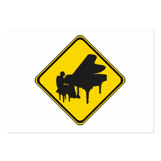 Alerta: Jogador de piano adiante! Cartao De Visita