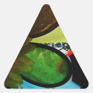Aleta de vento adesivo triangular