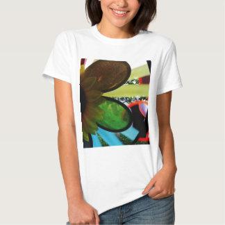 Aleta de vento camisetas