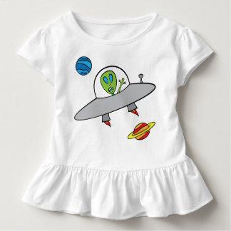 Alex a alienígena - T do plissado da criança Tshirts