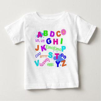 Alfabeto da criança - versão das meninas t-shirt