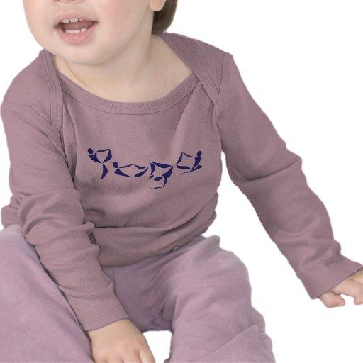 Alfabeto da ioga - roupa da ioga do bebê tshirt