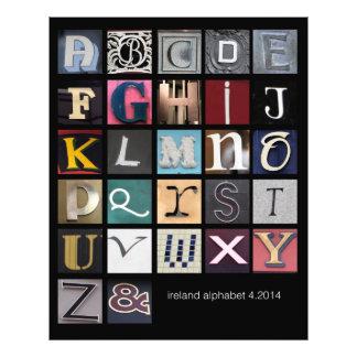 alfabeto de ireland impressão de foto