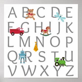 Alfabeto do bebé pôster