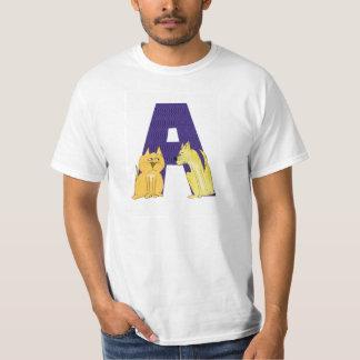 Alfabeto do gato um t-shirt
