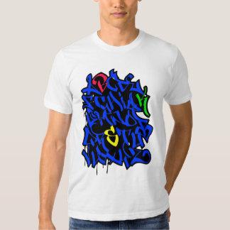 Alfabeto dos grafites t-shirts