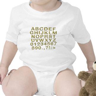 Alfabeto dourado babadores