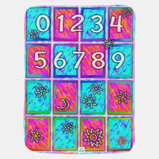 Alfabeto e números gerais do bebê mantas de bebe