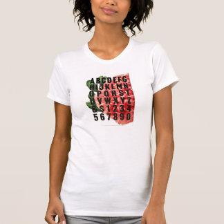 alfabeto/floral camisetas