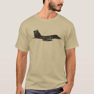 Alfabeto fonético do avião de combate militar camiseta