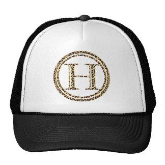 alfabeto H do leopardo Boné