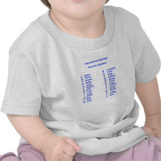 Alfabeto internacional tshirt