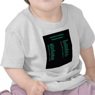 Alfabeto internacional t-shirts