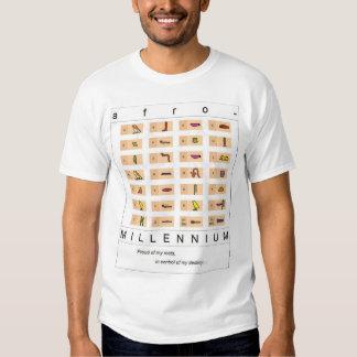 Alfabeto jeroglífico camisetas