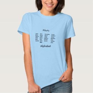 Alfabeto, Pilot'sAlphabet Tshirt