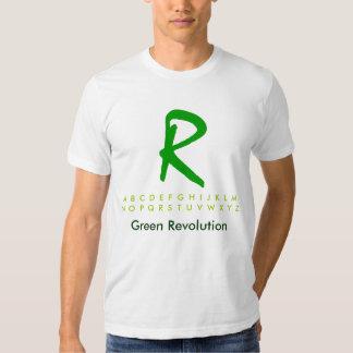 Alfabeto R2 verde Tshirts