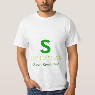 Alfabeto S verde T-shirts