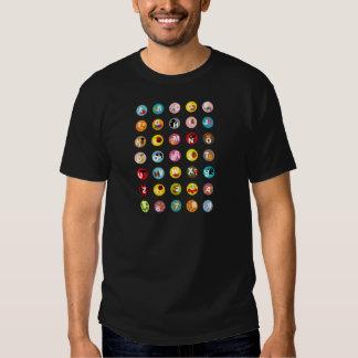 alfabetos tshirts