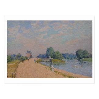 Alfred Sisley a estrada ao Hampton Court 1874 Cartao Postal