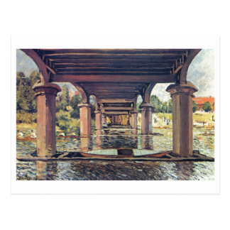 Alfred Sisley Brücke - Hampton Court 1874 Cartão Postal