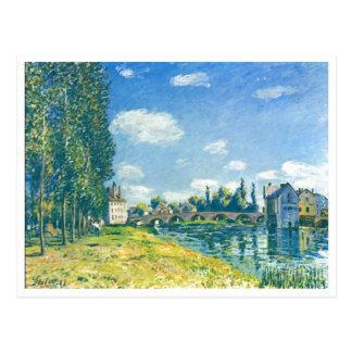 Alfred Sisley - Brücke von Moret im Sommer 1888 Cartões Postais