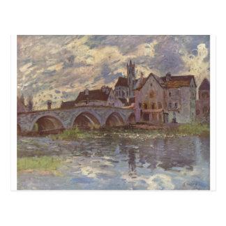 Alfred Sisley - Brücke von Moret-sur-Loing 1885 Cartões Postais
