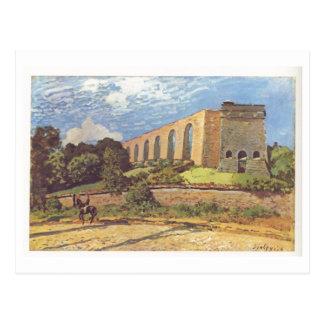 Alfred Sisley - do óleo de Aquädukt von Margoso 18 Cartão Postal