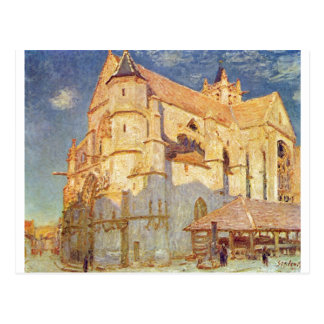 Alfred Sisley - do óleo de Kirche von Moret 1893 i Cartoes Postais
