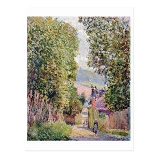 Alfred Sisley - Eine Straße em Louveciennes 1878 Cartão Postal