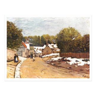 Alfred Sisley Erster Schnee em Louveciennes 1870 Cartao Postal