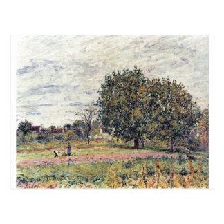 Alfred Sisley - impressão do óleo de Anfang Oktobe Cartões Postais