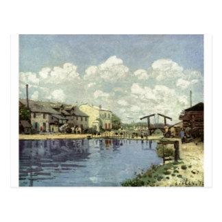 Alfred Sisley - Kanal - Le canal St Martin 1872 Cartão Postal