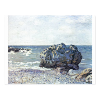 Alfred Sisley - mit Felsen 1887 de Bucht von Langl Cartões Postais