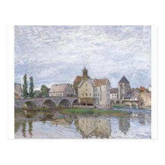 Alfred Sisley Moret-sur-Longo - óleo dos gris 1892 Cartao Postal