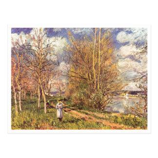 Alfred Sisley morre kleinen Wiesen im Frühling 188 Cartao Postal