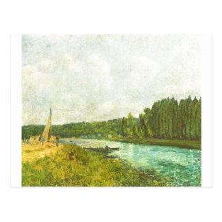 Alfred Sisley - morre o der Oise 1878-1880 de Ufer Cartão Postal