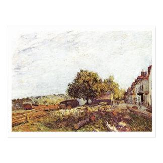 Alfred Sisley - Santo-Mammès am Morgen 1890 Cartao Postal