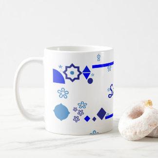 Caneca De Café Algo caneca azul