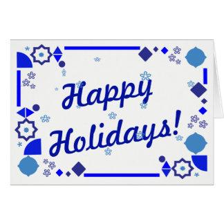 Cartão Algo cartão azul do feriado