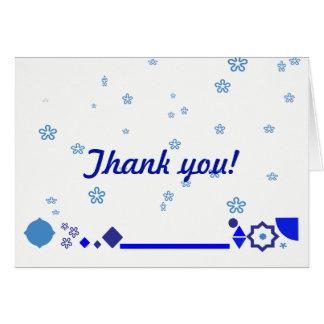 Algo cartões de agradecimentos azuis