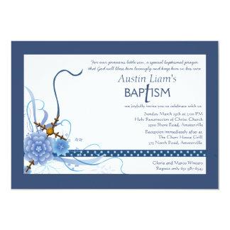Algo convite religioso azul