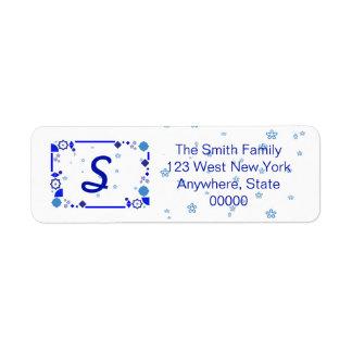 Etiqueta Algo etiqueta de endereço azul