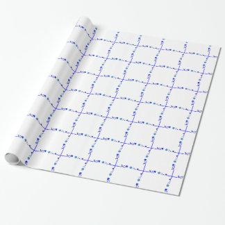 Papel De Presente Algo papel azul do papel de embrulho